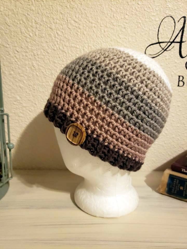 Pantone Yarn Button Beanie